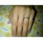 Anéis Diário Jóias Liga Feminino Masculino Casal Anéis de Casal 1peça 2pçs,5 6 7 8 9 10 8½ 9½ 10½ Prateado