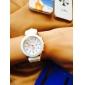 Жен. Модные часы Повседневные часы Кварцевый силиконовый Группа Конфеты Черный Белый Синий Красный Коричневый Зеленый Розовый