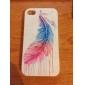Vivid padrão colorido Pena óleo transparente quadro de volta para iPhone 4/4S