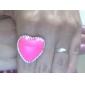 moda coreana do coração do pêssego grandes estrelas amor anel aberto (cor aleatória)