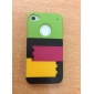 Защитный чехол с подставкой для iPhone 4 и 4S (разноцветный)