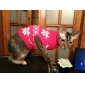 Dog Sweater Dog Clothes Keep Warm Christmas New Year's Snowflake Red Blue