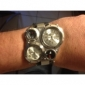 V6® Men's Watch Military Three Time Zones PU Band Cool Watch Unique Watch Fashion Watch