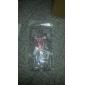 Cas dur de couverture arrière transparente Motif perle Bow Tie avec la colle pour Samsung Galaxy i9500 S4