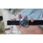 V6 남성용 손목 시계 석영 일본 쿼츠 실리콘 밴드 블랙