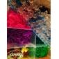 liens de cheveux c de verrouillage de matériel de bricolage arc de style coloré de métier (100 pièces)