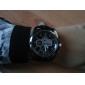 Hommes Montre Bracelet Quartz Polyuréthane Bande Noir Noir