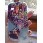 caso difícil balões coloridos padrão pc com moldura preta para Samsung Galaxy S3 mini-i8190
