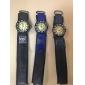 아이들의 둥근 직물 밴드 석영 아날로그 손목 시계 (분류 된 색깔)를 다이얼