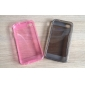 Ultrathin Transparent Silicone Back Case for iPhone 4/4S (Assorted Color)