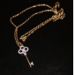 Key Pattern Metal With Artificial Diamond Necklace(1pc)