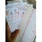 Padrão menina de papel Capacitor Decore Stickers (6PCS)