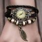 Mulheres Relógio de Moda Bracele Relógio Quartzo PU Banda Folhas Boêmio Preta Vermelho Laranja Marrom Verde