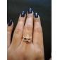 Anéis Diário Jóias Liga Feminino Anéis Grossos 1peça,8 Dourado Prateado