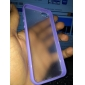 Special Design Transparent Back and Solid Color Frame Hard Case for iPhone 5/5S (Assorted colors)