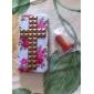 Praça Bronze Rebites Coberto Cruz e Rosa Padrão Hard Case com cola para iPhone 4/4S