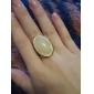 European And American Fashion Elegant Temperament Gold Gemstone Ring