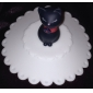 Cat Pattern Silicone Bowl Cover Cup Lid (Random Colors)