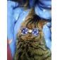 de luxe de style coloré collier de chien réglable avec nœud papillon pour les chiens chats animaux (cou: 20-32cm)