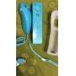 Remote-ohjain silikonisuojakuorella + Nunchuk Wii:lle (sininen)