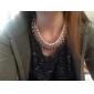 shixin® multi layer rédea colar jóia cordão ECLARAÇÃO bib colar
