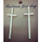 Stud Earrings Alloy Statement Jewelry Fashion Cross Gold Black Silver Jewelry Daily