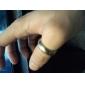 Сокращенное Гладкий Титан Мужская стальное кольцо