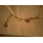 Женский Браслеты-цепочки и звенья Уникальный дизайн Любовь Мода Сплав В форме сердца Любовь Бижутерия Для Свадьба 1шт