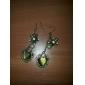 Women's  Retro heart-shaped synthetic opal pearl earrings E17