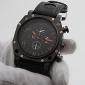 Мужской Спортивные часы Кварцевый Японский кварц силиконовый Группа Черный марка V6