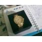 Жен. Нарядные часы Часы со стразами Кварцевый Имитация Алмазный Нержавеющая сталь Группа Блестящие Серебристый металл Золотистый
