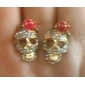 Stud Earrings Alloy Simulated Diamond Skull / Skeleton Jewelry Daily