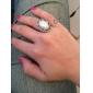 Кольца Для вечеринок Бижутерия Жемчуг Сплав Женский Массивные кольца 1шт,5 Белый