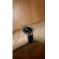 Unisex simples Dial Quartz Analógico Pu couro banda relógio de pulso