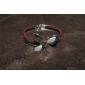 Sweet Clover Glitter 18cm Women's Silver Alloy Bangle (1 Pc)