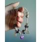roxo contas pulseira para as mulheres de estilo europeu pulseiras artesanais frisado