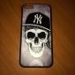 crânio no estilo do chapéu caso de volta de proteção para iphone 5c