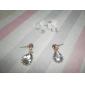 Женский Серьги-слезки Elegant Мода Pоскошные ювелирные изделия европейский Синтетические драгоценные камни Искусственный бриллиант Сплав