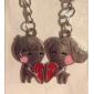Пара Мальчик и девушка в форме сердца любителей брелки
