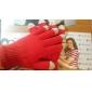 Unisex vermelha Touch Screen luvas de malha