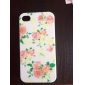 Peony Rose Flower Pattern Hard Case for iPhone 4/4S iPhone Cases