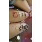 Mulheres Gargantilhas Colares com Pendentes Formato de Laço Cristal Liga Elegant bijuterias Jóias Para Casamento Festa Diário