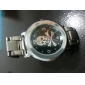 Men's Skull Pattern Silver Steel Band Wrist Watch (Assorted Colors) Cool Watch Unique Watch