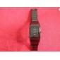 Personalizirani poklon Muška Trg Crna Dial Tungsten čelična traka Analogni ugraviranim Gledajte