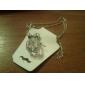 Fashion (Bowknot Transparent Small Packs Pendant) Silver Alloy Pendant Necklaces (1 Pc)