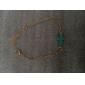 Feminino Enrole Pulseiras Pulseiras Vintage Pedras preciosas sintéticas Turquesa Liga Formato de Cruz Jóias Para Casamento
