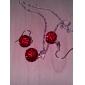 Femme Set de Bijoux Boucles d'oreille goutte Mode Dégradé de Couleur Mariage Soirée Anniversaire Quotidien Cristal Alliage Balle Boucles