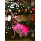 Кошка Собака Платья Одежда для собак Цветочные / ботанический Розовый