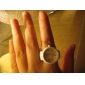 Women's Simple Round Dial Alloy Band Quartz Analog Ring Watch Cool Watches Unique Watches Fashion Watch