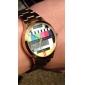 padrão de tv unissex aço ouro quartzo relógio de pulso analógico
